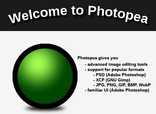 открыть psd через photopea