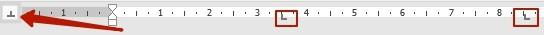 Использование табуляции в редакторе Word