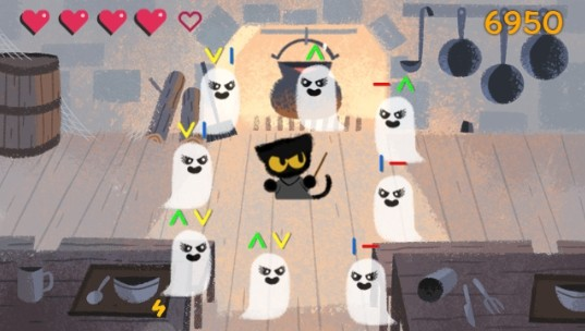 Spooky Cat лучшая игра от Google