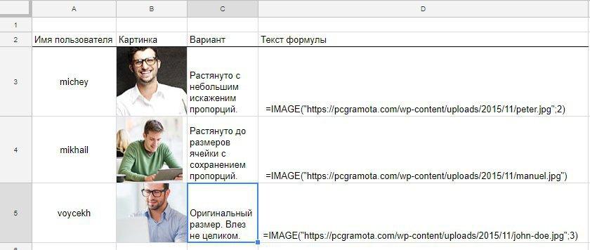 Как вставить картинку в таблицу Google